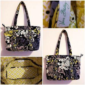 Vera Bradley black & yellow tote bag.